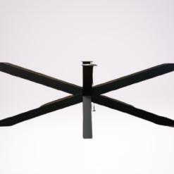 Matrix tafelpoot zwart gepoedercoat Groot
