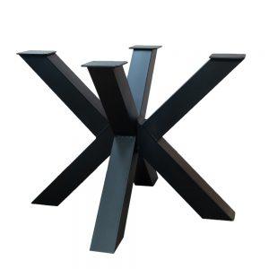 Matrix Tafelpoot Zwart gepoedercoat