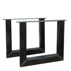 Stalen U tafelpoot 10x10cm per stuk