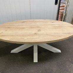Eiken Ovaal tafelblad 200 x 110