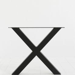 Stalen X-tafelpoot 10x10cm per stuk