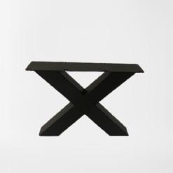 Stalen X salontafelpoot zwart gepoedercoat setprijs