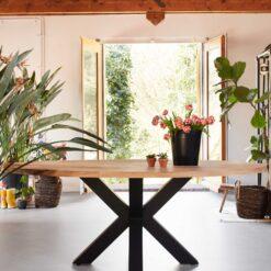 Eiken tafelblad ovaal 220 x 110